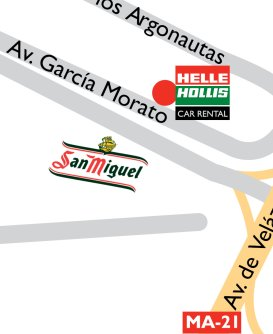 Location: How to get to the parking, next to to Malaga airport